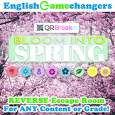 Bloom into Spring REVERSE Escape Room: Break IN to ANY Lesson or Content Area!