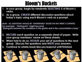 Bloom's Buckets Discussion Activity