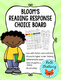 Bloom's Reading Response Choice Board