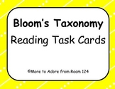 Bloom's Reading Task Cards