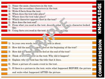 Bloom's Taxonomy Based Reading Questions