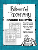 Bloom's Taxonomy Choice Boards