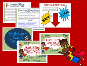Bloom's Taxonomy Class Posters (Superhero Theme!)