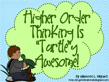 Bloom's Taxonomy Class Posters (Turtle Theme)