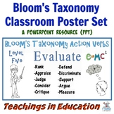 Bloom's Taxonomy Classroom Posters