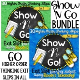 Bloom's Taxonomy | Higher Order Thinking Exit Slips Bundle