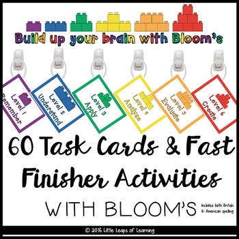 Bloom's Taxonomy Fast Finisher Task Cards