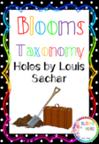 Bloom's Taxonomy: Holes by Louis Sachar Activities
