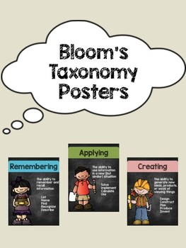 Bloom's Taxonomy Posters (Chalkboard Theme)