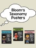 Bloom's Taxonomy Posters (Chalkboard Theme)