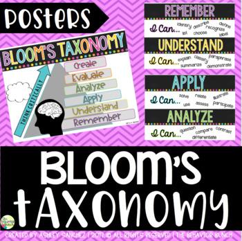 Bloom's Taxonomy Posters {Rainbow}
