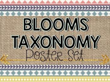 Bloom's Taxonomy Posters {Tribal/Aztec Theme}