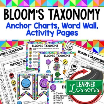 Bloom's Taxonomy Posters, Word Wall, Quick Reference, Teacher PD
