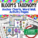 Bloom's Taxonomy Posters, Anchor Charts, Word Wall, Quick Reference, Teacher PD