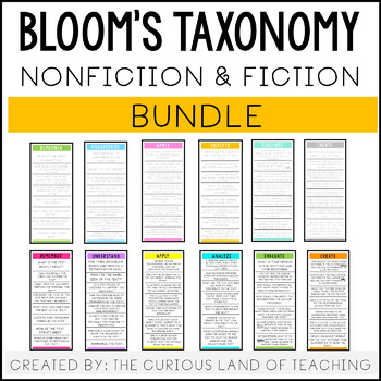 Bloom's Taxonomy Question Card Bundle: Fiction and Nonfiction