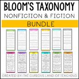 Bloom's Taxonomy Question Card Bundle: Fiction and Nonfiction