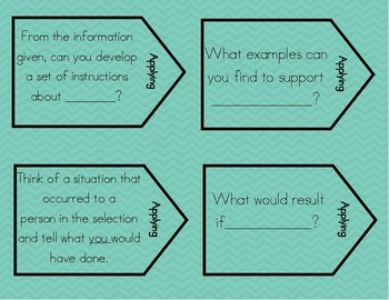 Bloom's Taxonomy Question Stem Task Cards