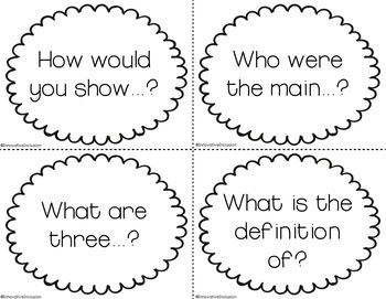 Bloom's Taxonomy Higher Order Thinking Question Stems