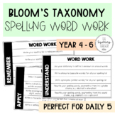 Bloom's Taxonomy Spelling Word Work - Use with ANY list!