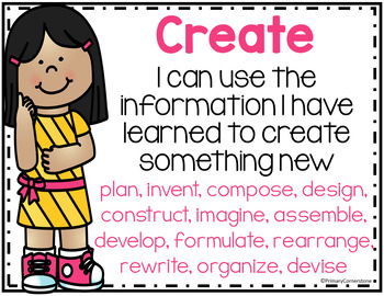 Bloom's Taxonomy Student Friendly I Can Posters