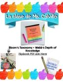 Bloom's Taxonomy + Webb's Depth of Knowledge Flipbook