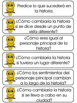 Bloom's Taxonomy in Spanish-Colorful Owls