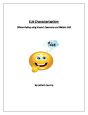 Bloom's & Webb's DOK Differentiation Table for ELA Characterization