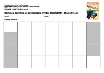Bloomability - Sharon Creech - Novel Study Resources & Printables