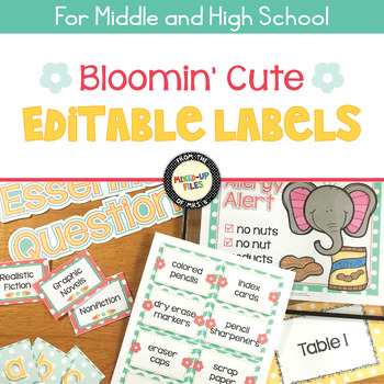 Bloomin' Cute Editable Labels
