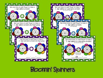 Bloomin' Spinners Addition and Subtraction Spinners