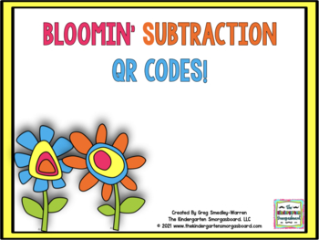 Bloomin' Subtraction QR Code FREEBIE!