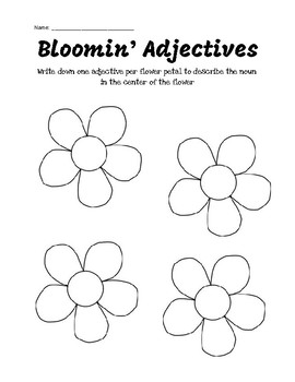 Blooming Adjectives