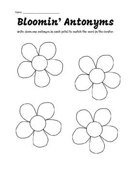 Blooming Antonyms