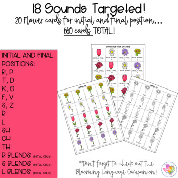 Blooming Articulation Skills: Speech & Language Therapy (Target Dollar Spot)