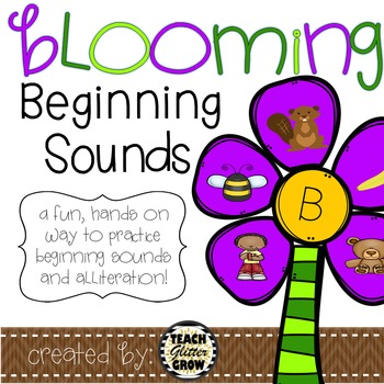 Beginning Sound Blooms - beginning sound and alliteration practice