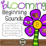 Beginning sound and alliteration center activity