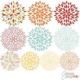 Clipart - Blooming Blossom Flowers Clip Art