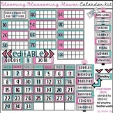 Blooming Blossoming Flower Calendar Kit