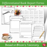 Updated Book Report Templates based on Bloom's Taxonomy