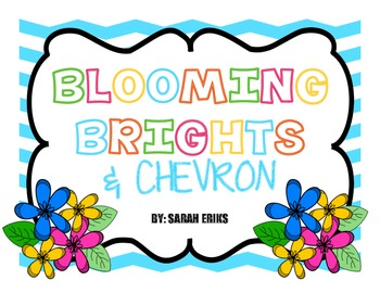 Blooming Brights & Chevron Classroom Decor Bundle