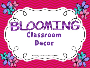 Blooming Classroom Decor