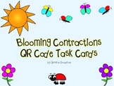 Blooming Contractions QR Code Task Cards
