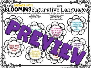 Blooming Figurative Language (Flower Literary Device Unit)