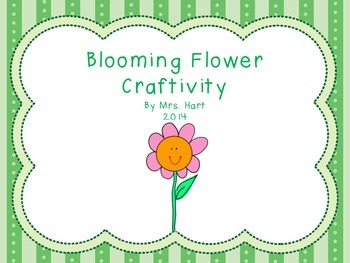Blooming Flower Craftivity