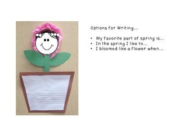 Blooming Flower Craftivity