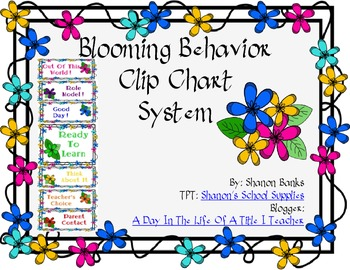 Blooming Flowers Behavior Clip Chart