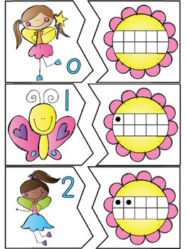 Blooming Fun Ten Frames Puzzles & Playdoh Math Centers