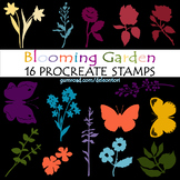 Blooming Garden Set of 16 Procreate Stamps