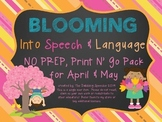 Blooming Into Speech & Language No Prep Pack
