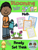 K Blooming Into Spring Math (ZERO PREP - BUNDLED UNIT)